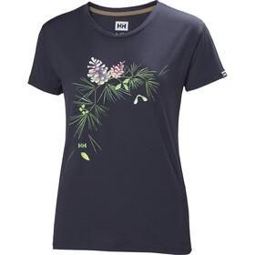 Helly Hansen Skog Graphic T-shirt Dam graphite blue